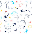 hand drawing summer icons seamless vector image vector image