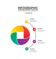 infographics business marketing report template vector image vector image