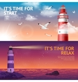 Lighthouse Banner Set vector image