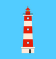 Lighthouse flat icon on blue background flat