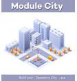 megapolis city quarter vector image vector image
