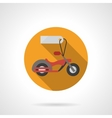 Motorbike for sale round flat color icon vector image