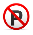 no parking road sign vector image vector image
