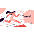 on theme travel vector image