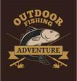 outdoor fishing adventure vector image vector image