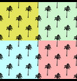 palm trees set background - seamless palm vector image vector image