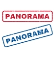 Panorama Rubber Stamps vector image vector image