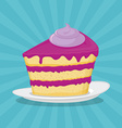 Piece of cake Icon vector image vector image