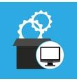 programming coding computer gears vector image vector image