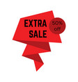 red extra sale sticker with text vector image