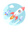 Rockets in the sky Modern flat style vector image vector image