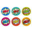 round shape sale tags set blue green pink red vector image vector image