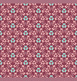 seamless floral ornament pattern vector image vector image