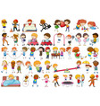 set doodle character vector image vector image