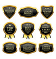 set of badges labels quality product vector image vector image