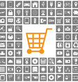 shopping icons web set vector image vector image