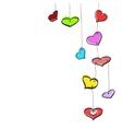 Sketch hanging hearts vector image vector image