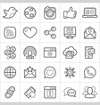 social trendy style icons on white background vector image