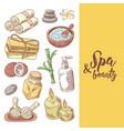 spa wellness beauty hand drawn design vector image vector image