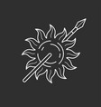 sun and spear icon vector image vector image