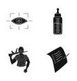 test sport medicine and other web icon in black vector image vector image