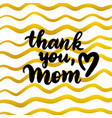 thank you mom handwritten postcard vector image vector image