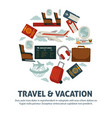 travel poster for holiday vacation and summer air vector image vector image