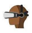 virtual reality gadget icon image vector image vector image