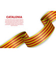 waving flag catalonia on white background vector image vector image