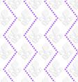White 3D with colors Fleur-de-lis with purple dots vector image
