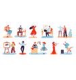 artistic people men and women with creative vector image vector image