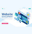 banner website development vector image