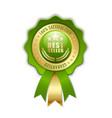 best seller rosette placed on white background vector image vector image