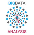 big data visualization in flat style vector image
