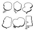 blank template comic text speech bubble set vector image vector image