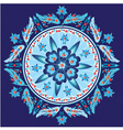 blue decorative oriental pattern and ornaments vector image