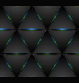 blue green glowing triangles tech pattern design vector image vector image