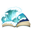 book wave vector image