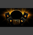 casino poker game background in black and gold vector image
