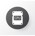 central processor unit icon symbol premium vector image