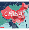china country detailed editable map vector image vector image