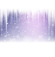 christmas snowflakes snowdrift and icicles vector image vector image