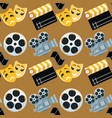 cinema genre cinematography seamless pattern vector image
