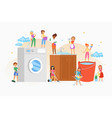 cleaning house women washing company cartoon vector image