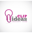 Clip Ideas Concept Symbol Icon or Logo Template vector image vector image