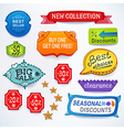 Colored set of promotional sales english text vector image vector image
