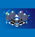 computation big data center information vector image vector image