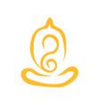 creative abstract simple line art yoga meditation vector image