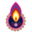 diwali candle light vector image