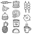 Doodle of food set element stock vector image vector image